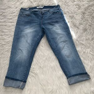 Torrid Ex Boyfriend sz 12 cropped jeans stretch